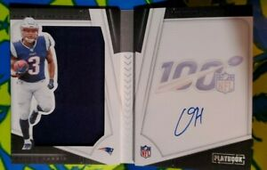 2019 Panini NFL Playbook Damien Harris Booklet RPA RC Patch Auto On Card /175