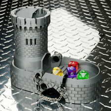 Dice Tower with Spiral Staircase (Silver Lustre)