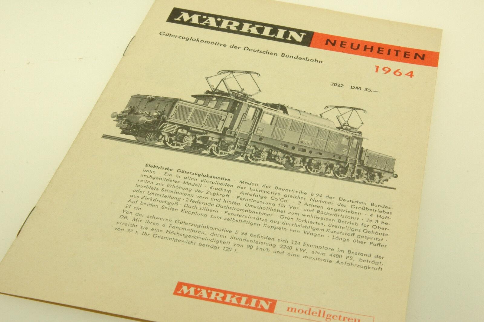 (63 017) Märklin Catalogo Novità 1964 ottime condizioni