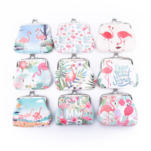 flamingos-women-wallet-small-card-holder-coin-purse-ladies-clutch-handbagT5