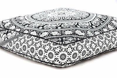 "35/""x35/"" Mandala Bohemian Yoga Meditation Large Square Bed Outdoor Floor Pillow"