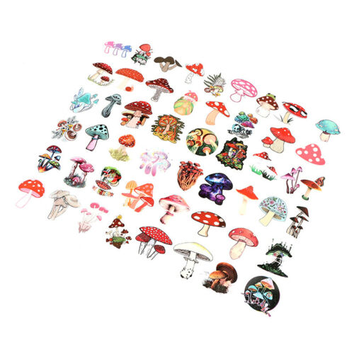 50PCS Skateboard Stickers bomb Vinyl Laptop Luggage Mushroom Sticker Lot SEZ2