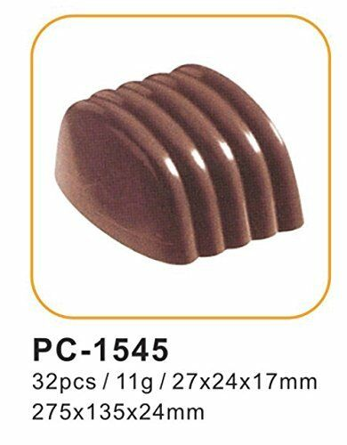 32 POLYCARBONATE mini ripple wave chocolate candy dessert soap mould MisterChef®