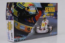 1993 Ayrton Senna Kart 2 #2 + Figur Bausatz Kit 1:20 Fujimi 091389