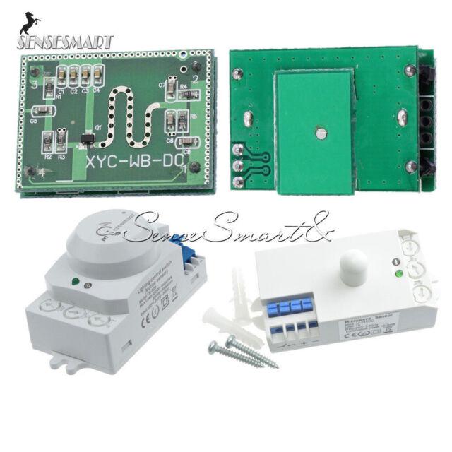 360° Smart Light Switch Radar Microwave Sensor Motion Detector DC12V-24V AH504