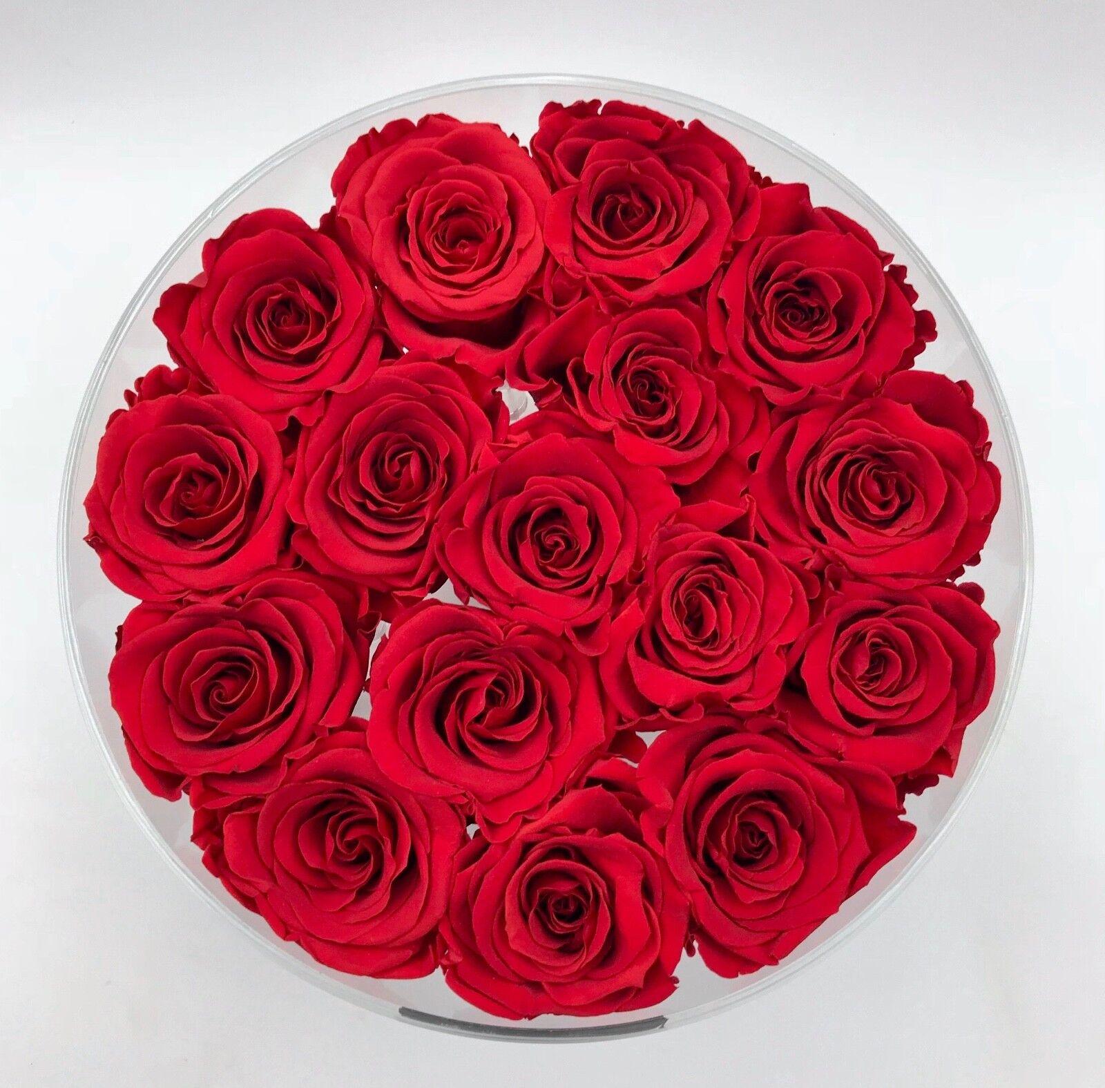 Exclusif rosenbox de laine acrylique préservée avec préservée acrylique roses comme cadeau de Noël 41d6fe