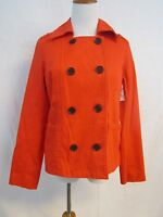 Old Navy Double Breasted Jacket Orange Red Buttons 100% Cotton Small W/ Tags