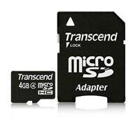 5 X Transcend Microsdhc 4gb Class 4 Memory Cards Brand