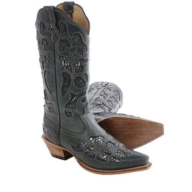0b1395c0aad Twisted X Steppin out Cowboy Western Leather Womens BOOTS Snip Toe Gold  Buckle