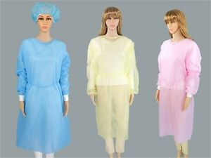 Disposable-Medical-Clean-Laboratory-Isolation-Cover-Gown-Surgical-Clothes-LD