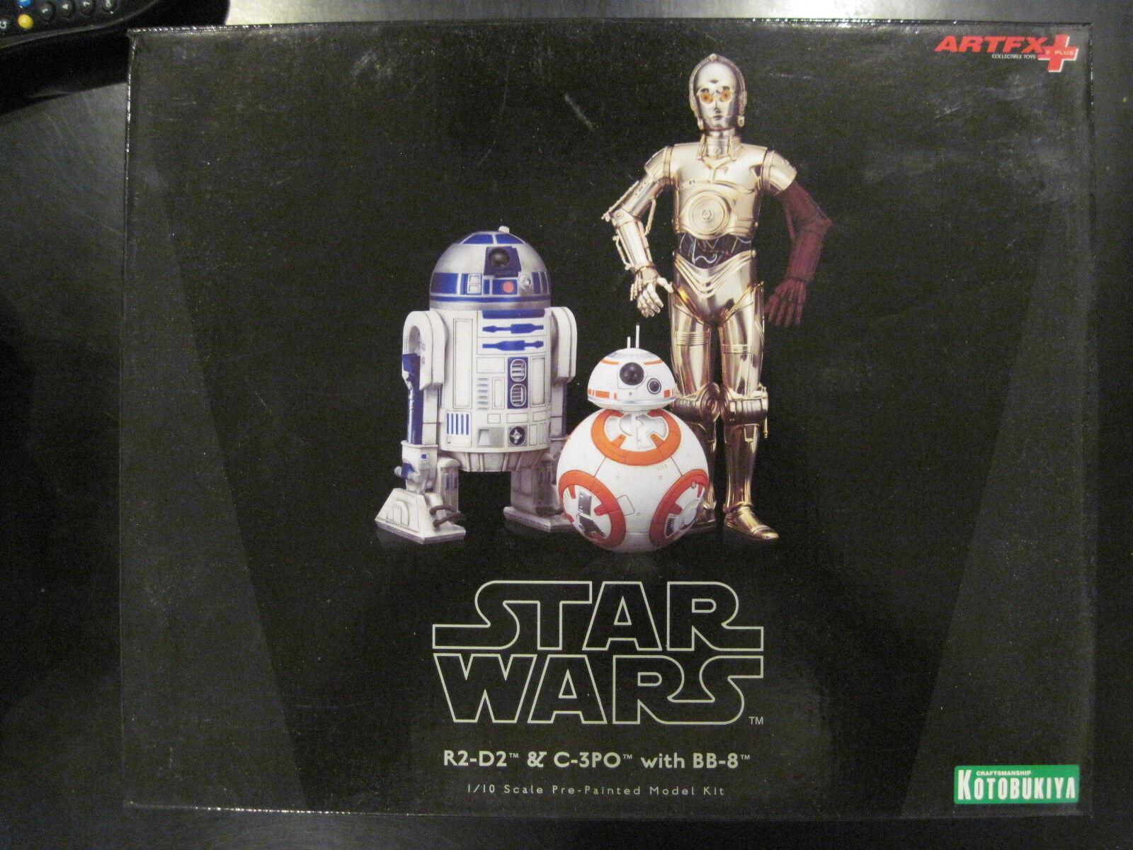 Kotobukiya ArtFX Star Wars R2-D2 & C-3PO with BB-8 1/10 Scale Pre-Painted Models