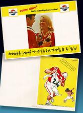 PEPSI COLA | ALTES HIGHSCHOOL FOOTBALL PROGRAMM ORDERMUSTER 1965 + 4-PAGE PROGR.