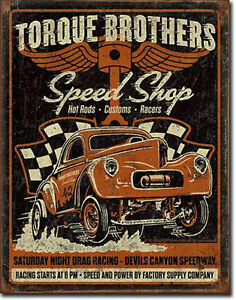 Vintage-Custom-GARAGE-ROCKABILLY-auto-TUNING-Plaque-deco-tinsign-Affiche-198