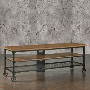 industrial media furniture metal image is loading rustictvstandentertainmentcenterindustrialmedia console rustic tv stand entertainment center industrial media console table