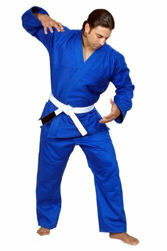 Woldorf USA BJJ uniform jiu jitsu JODO student gi in blueE color NO LOGO