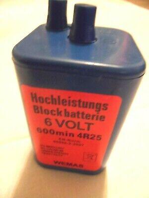WEMAS 6-Volt Hochleistung-Blockbatterie 4R25 für alle gängigen Warnleuchten
