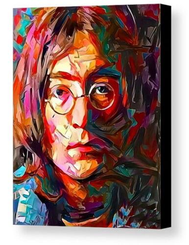 Framed Beatles John Lennon Abstract 9X11 Art Print Limited Edition w//signed COA