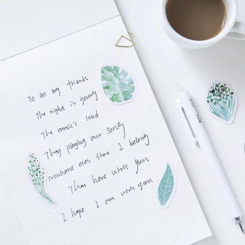 Cute Stationery Scrapbooking Kawaii Diy Album Mint Diary Watercolor Sticker