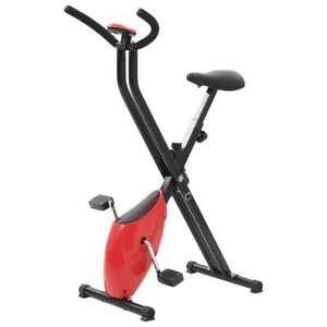 vidaXL-Exercise-Bike-X-Bike-Belt-Resistance-Red-Stationary-Bicycle-Cardio
