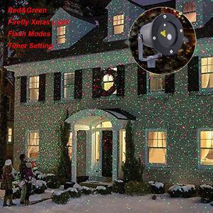 led laser projektor laserlicht beleuchtung wasserdicht garten weihnachten deko ebay. Black Bedroom Furniture Sets. Home Design Ideas