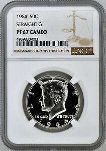 1964 50c Silver Proof Kennedy Half Dollar NGC PF 67