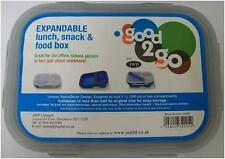New Good 2 Go Expandable Lunch, Snack & Food Box with 2 Compartments - Blue