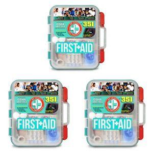 3-PK First-Aid Kit (351 pc./ea) Guaranty Fresh ~ Free Shipping