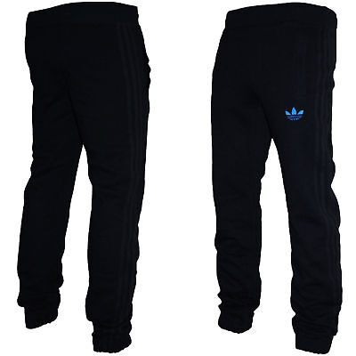 Mens Adidas Originals SPO Fleece Trefoil Tracksuit Pants Gym Bottoms Black | eBay