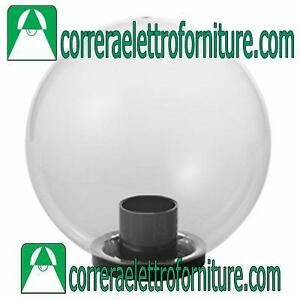 Lampione-globo-giardino-esterno-SFERA-400-mm-trasparente-MARECO-1080501T