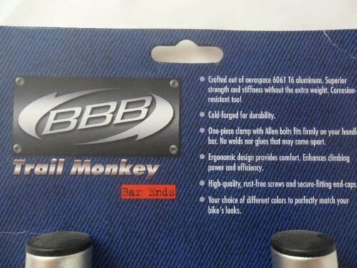 BBB Bar End Trail Monkey gerade silber