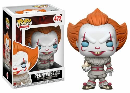 IT POP Movies Vinyl Figure #472 Pennywise with Boat Funko POP