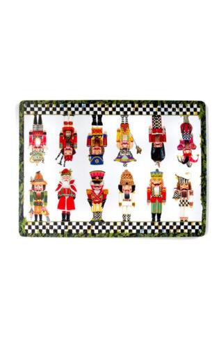 MacKenzie-Childs Nutcracker Brigade Cork Back Placemats-Set of 4