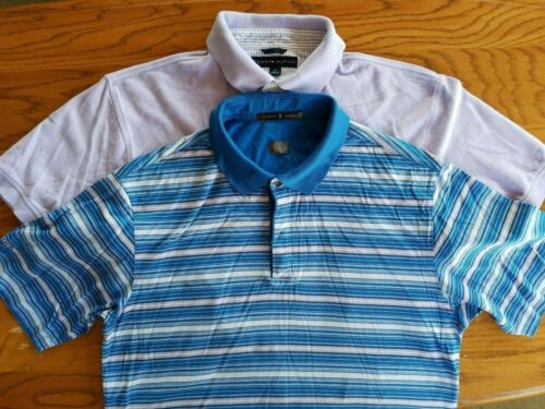 Lot Of 2 Mens Polo Shirts Nike Blue Tiger Woods &