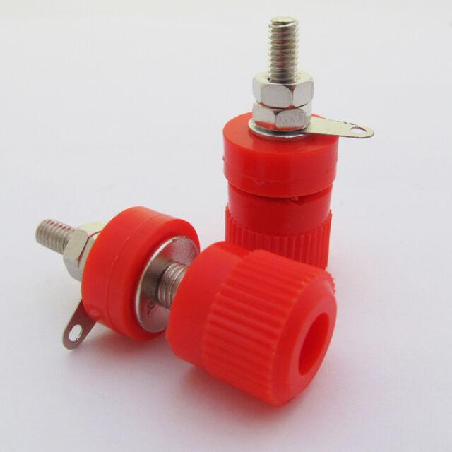 10pcs Red Binding Post Speaker Cable 4mm Banana Jack Female 33mm