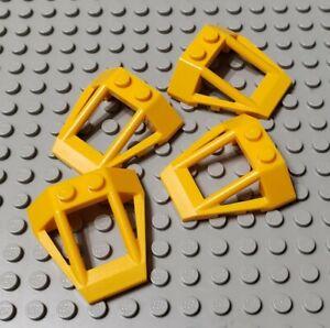 Lego 2 Bright Light Orange 4x4 round plate base NEW