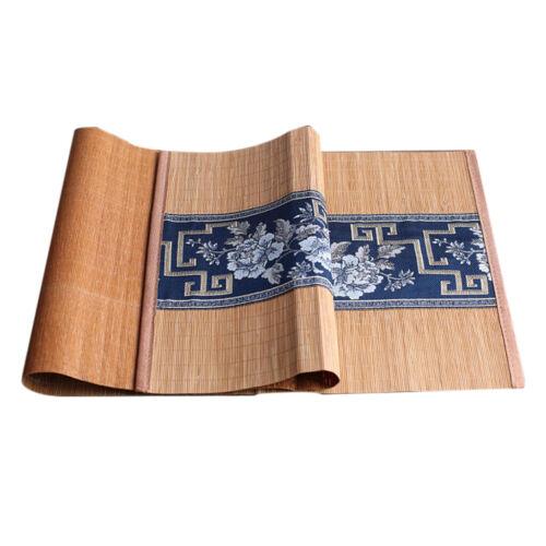 Natural Tea Mat Kungfu Tea Desk Slat Placemat Table Runner Hotel Decor