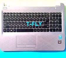 NEW HP 15-AC 15AC Palmrest Touchpad W Keyboard Upper Case AP1EM000332 813975-001