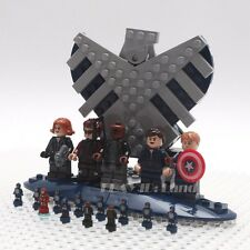 LEGO Marvel 76042 SHIELD Helicarrier set of 5 Minifigures+12 micro figure+stand