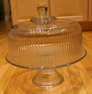 Vintage Clear Glass Cake Stand