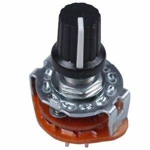 Electronic-Machine-3P4T-3Pole-4-Position-2-Deck-15-Pin-Rotary-Switch-Z3U5