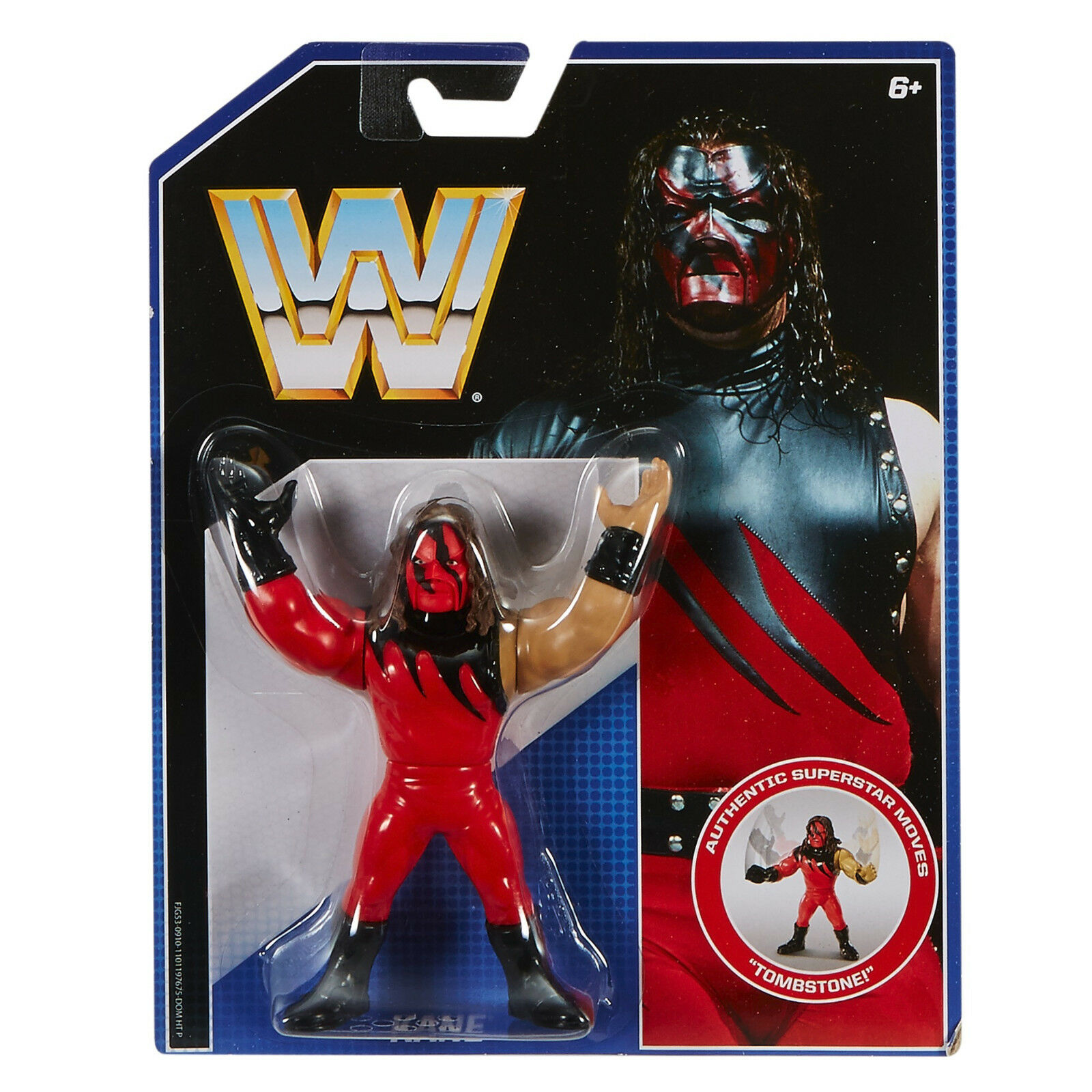 WWE RETRO KANE FIGURE EXCLUSIVE SERIES WWF DEBUT ATTIRE RED FACE DEMON 1997
