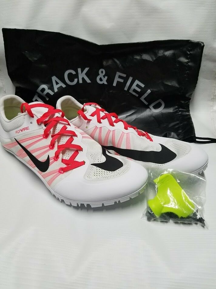 NIKE ZOOM JA FLY 2 TRACK & FIELD SPIKES SIZE 14 WHITE/CRIMSON/BLACK 705373-101 Cheap women's shoes women's shoes
