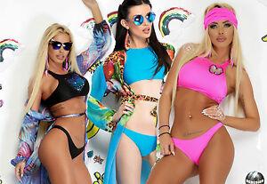 Ocassion-Bikini-Sexy-2-Teiler-Swimsuit-Badeanzug-Slip-String-Badehose-Pink