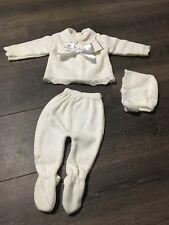 18cd9f341 Baby Crisp White Knitted Pram Suit Spanish Traditional Boys Girls ...