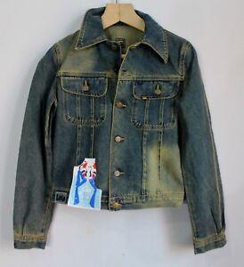 cheap for discount ff1ce cfe5e Dettagli su Da Donna anni'80 VINTAGE LOIS Giacca di Jeans Spagna donna  Lavoro Manica Lunga 2/S Small- mostra il titolo originale