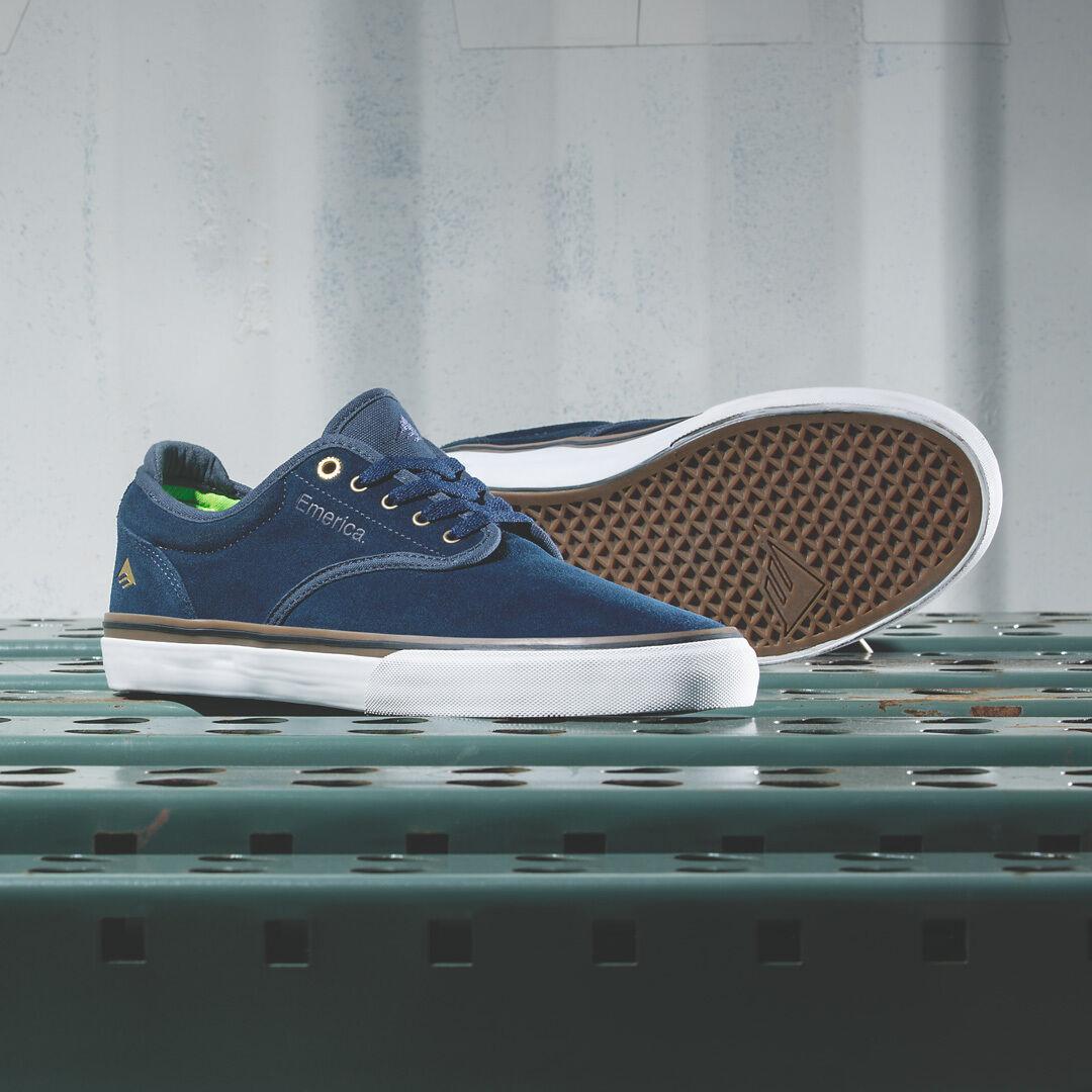 Emerica Wino G6 Navy / Gum / bianca Skate Shoes MSRP$65