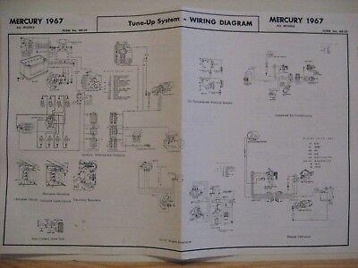 1967 MERCURY MONTCLAIR MONTEREY PARKLANE WIRING DIAGRAM | eBay