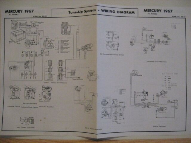 1967 Mercury Montclair Monterey Parklane Wiring Diagram