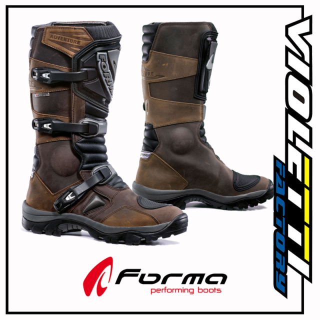 Stivali enduro Pelle Forma Adventure Marrone