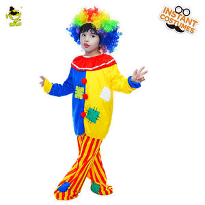 Image is loading Kids-Colorful-Clown-Costume-Boy-Carnival-Party-Funny-  sc 1 st  eBay & Kids Colorful Clown Costume Boy Carnival Party Funny Buffon Cosplay ...